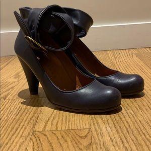 Chie Mihara ankle wrap heels.